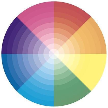 magenta colour wheel