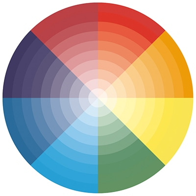 red colour wheel