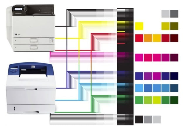 printer colour diagram