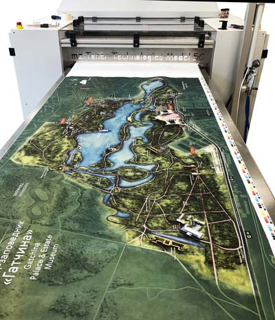 printing of map for gatchina museum
